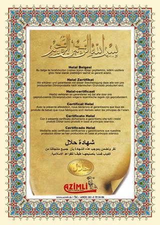 Azimli Halal Zertifikat